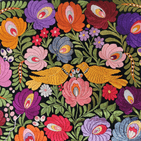 Matyo Embroidered Wall Hanging 195 x 63 cm plus fringes